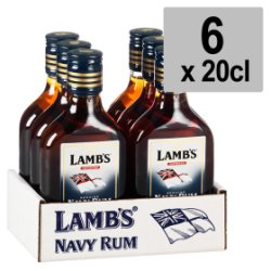 Lamb's Dark Navy Rum 6 x 20cl