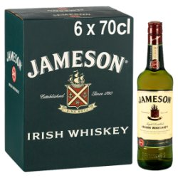 Jameson Irish Whiskey 6 x 70cl