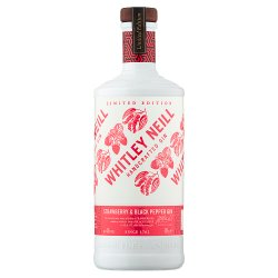 Whitley Neill Limited Edition Strawberry & Black Pepper Gin 70cl