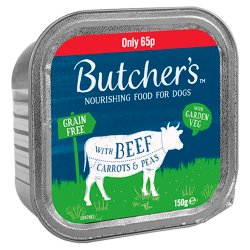 Butcher's Nourishing Food for Dogs with Beef Carrots & Peas 150g