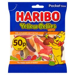HARIBO Mini Yellow Bellies Bag 70g 50p PM