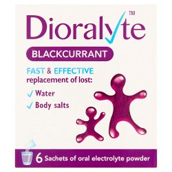 Dioralyte Blackcurrant Oral Electrolyte Powder 6 Sachets