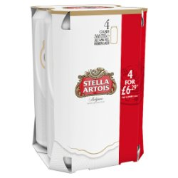 Stella Artois 4 For GBP6.29