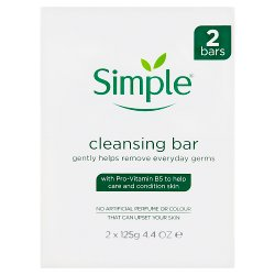 Simple Cleansing Bar 2 x 125g