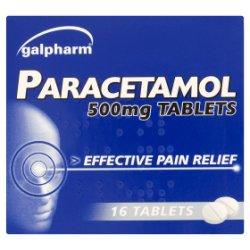 Galpharm Paracetamol 500mg Tablets 16 Tablets