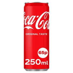 Coca-Cola Original Taste 250ml PMP 65p