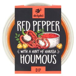 Delphi Chargrilled Red Pepper Houmous Dip with Olive Oil 170g