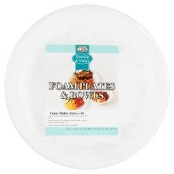 Batleys Catering Foam Plates & Bowls 50 x 23cm Foam Plates