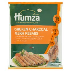 Humza 15 Chicken Charcoal Seekh Kebabs 750g