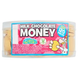 Crazy Candy Factory 120 Milk Chocolate Money 576g