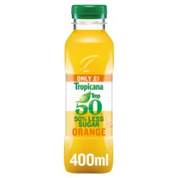 Tropicana Trop50 Orange Juice £1 PMP 400ml