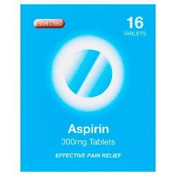 Aspar Aspirin 300mg Tablets 16 Tablets