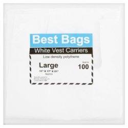 Best Bags 100 Large White Vest Carriers