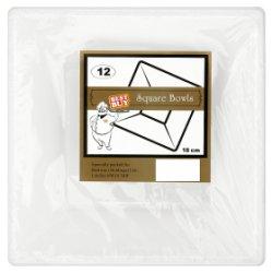 Best Buy 12 Square Bowls White 18cm