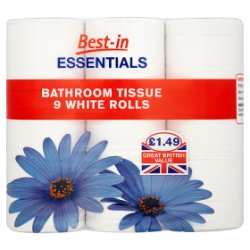 Bestin Essentials White Bathroom Tissue PM GBP1.49