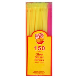 Best Buy 150 Glow Stirrer Straws
