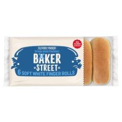 Baker Street 6 Soft White Finger Rolls