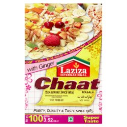Laziza International Chaat Masala Seasoning Spice Mix with Ginger 100g