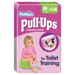 Huggies® Pull-Ups® Day Time Girls Size M (11-18kg, 24-40lbs) 14 Pants