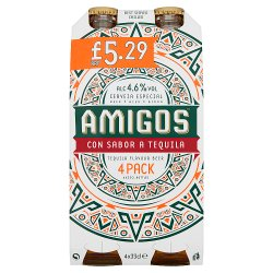 Amigos Tequila Flavour Beer 4 x 33cl
