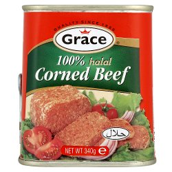 Grace 100% Halal Corned Beef 340g