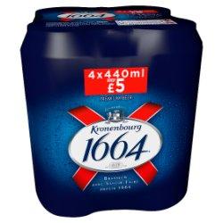 Kronenbourg 1664 Premium Beer 4 x 440ml