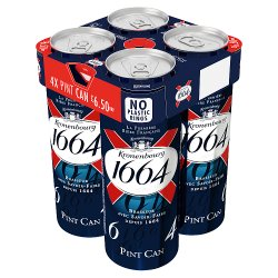 Kronenbourg 1664 Lager Beer 4 x 568ML Can
