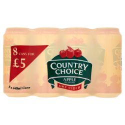 Country Choice Dry Apple Cider 8 x 440ml