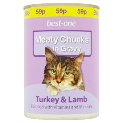 Best-One Meaty Chunks in Gravy Turkey & Lamb 400g
