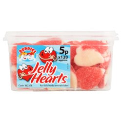 Buddies Jelly Hearts Fruit Flavour Sweets