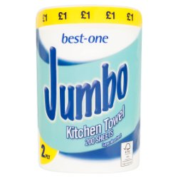 Best-One Jumbo Kitchen Towel 2 Ply 200 Sheets