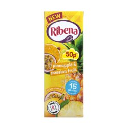 Ribena Pineapple & Passion Fruit 250ml 50p PMP