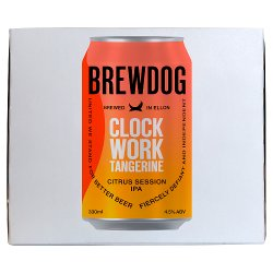 BrewDog Clock Work Tangerine Citrus Session IPA 4 x 330ml