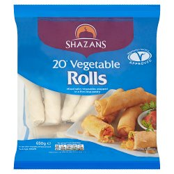 Shazans 20 Vegetable Rolls 650g