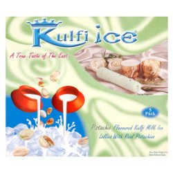 Kulfi Ice Pistachio Flavoured Kulfi Milk Ice Lollies with Real Pistachios 5 x 70ml