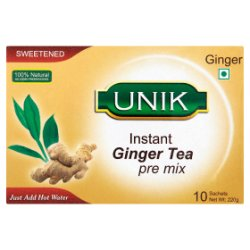 Unik Sweetened Instant Ginger Tea Pre Mix 10 x 22g