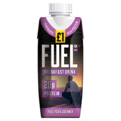 FUEL10K High Protein Chocolate Breakfast Drink 330ml £1 PMP