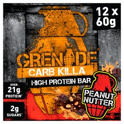 Grenade Carb Killa High Protein Bar Peanut Nutter 12 x 60g