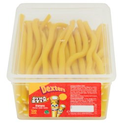 Dexters Dyna Stix Banana Flavour Candy Sticks 120 Pieces