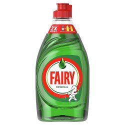 Fairy Original Washing Up Liquid Green with LiftAction. No Soaking, No Grease, No Fuss 433ML