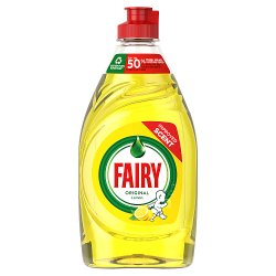 Fairy Original Washing Up Liquid Lemon with LiftAction. No Soaking, No Grease, No Fuss 433ML