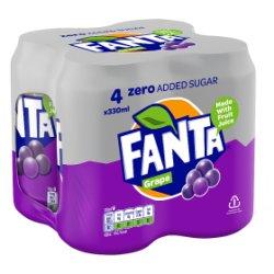 Fanta Zero Grape 4 x 330ml