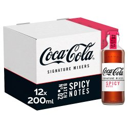 Coca-Cola Signature Mixers Spicy 12 x 200ml Glass Bottles