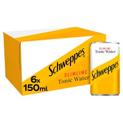 Schweppes Slimline Tonic Water 6 x 150ml