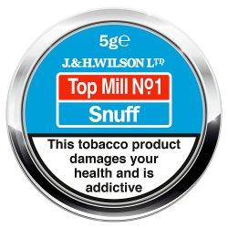 J & H Wilson Ltd Top Mill No.1 Snuff 5g