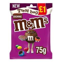 M&M's Brownie Chocolate £1 PMP Treat Bag 70g