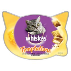 Whiskas Temptations Chicken Adult 1+ Cat Treats 60g