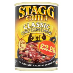 Stagg Chili Classic Chili Con Carne Medium 400g