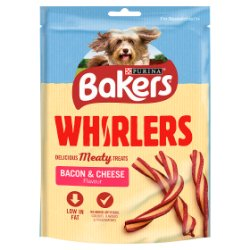 Bakers Dog Treat Bacon and Cheese Whirlers 175g