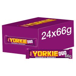 Yorkie Milk Chocolate Duo Bar With Raisin And Biscuit 66g
